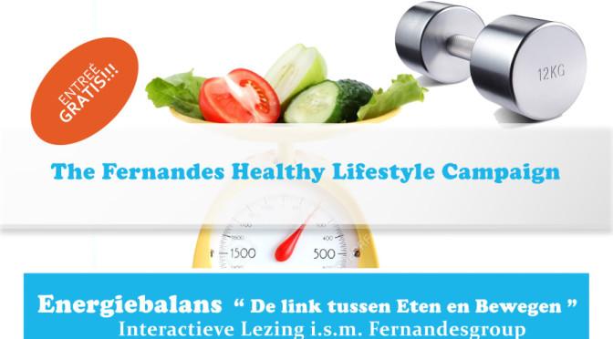 Fernandes Healthy Lifestyle Campaign flyer gratis lezing 31 mei 2015