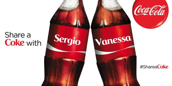 Share A Coke with Sergio & Vanessa