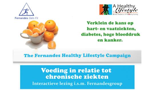 Fernandes Healthy Lifestyle Campaign lezing 26 juli