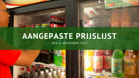 Fernandes Bottling softdrinks prijs 6 november 2017