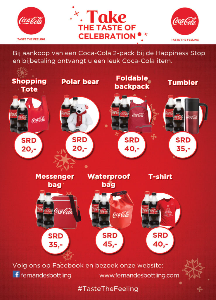 Coca-Cola Christmas Caravan promotie items