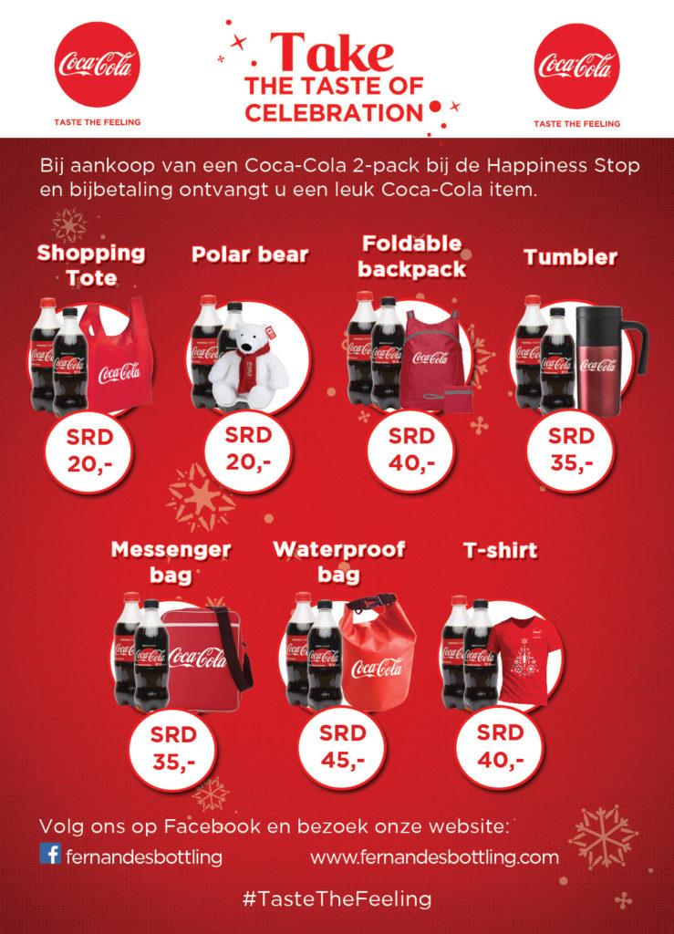 Coca-Cola Christmas Caravan promotie items